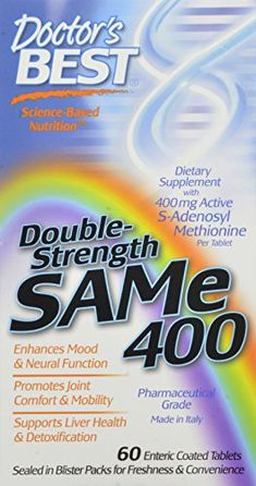 Doctor's Best SAM-e 400, 60-Count ** Click on the image for additional details.
