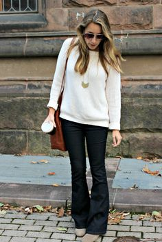 Wearing: A Little Flare // how to style your flare jeans for the fall // buttons & blossoms
