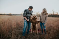 Documenting Gunner's first steps 🐾 Just kidding, but seriously Goldendoodles are the best to take pictures of. Winter Couple Pictures, Dog Christmas Pictures, Fall Family Photos, Couple Pics, Fall Pictures, Family Pictures Dog, Christmas Card Photo Ideas With Dog, Spring Photos, Holiday Pictures