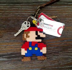 Super Mario Felt Keychain by TurtlesSoup on Etsy, $15.00  #etsy, #mario, #supermario, #gaming, #videogame, #nintendo, #geekery, #nerd, #geek super cute! I know a few who'd love this... Including me lol