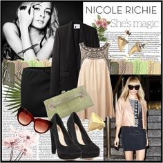 """Celebrity Style: Nicole Richie"" by queenofgoat on Polyvore"