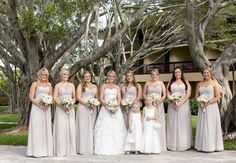 #PGABride and her bridesmaids. We love the added elegance of the long dresses! #PGAweddings #PGABridesmaids