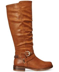 XOXO Martin Wide-Calf Riding Boots $69.00 A slouchy silhouette combines with strap and buckle details on XOXO's Martin wide calf riding boots, perfect with skirts and leggings.