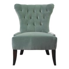 New HGTV HOME Furniture Collection Upholstery Josephine Accent Chair In Turquoise Velvet