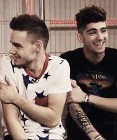 They look truly happy :') Liam and Zayn