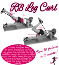 Resistance Band Leg Curl for a Sexy Bottom - Fitness For Women by Flavia Del Monte
