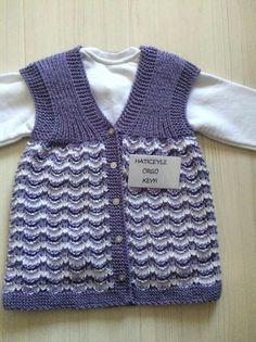 Baby Vest, Baby Cardigan, Knit Vest, Hood Pattern, Moda Emo, Easy Knitting Patterns, Baby Knitting, Crochet, Color