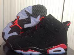 Nike Air Jordan AJ6 Retrocouples Shoes AJ6 Retro Jordan 6 Basketball Shoes Men And Women Shoes Black Red only US$98.00 - follow me to pick up couopons.