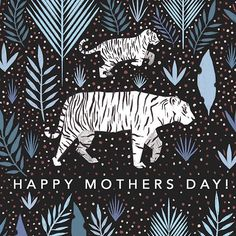 Happy Mother's Day everyone!!  #papiopress #tiger #beautiful #illustration