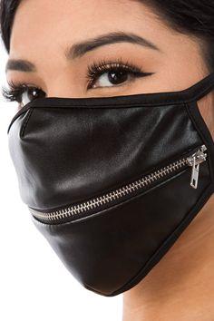 Strapped Leather glove unisex black leather mask ring leather cuff handmade avant Garde fetish black leather metal goth Black everything