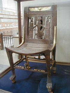 sillón egipcio tumba Tutankhamon