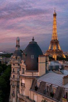 Sunset In Paris France Tour Eiffel, Torre Eiffel Paris, City Aesthetic, Travel Aesthetic, Places To Travel, Places To Go, Travel Things, Time Travel, Travel Movies