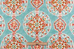 Mood Fabrics : New York Fashion Designer Discount Fabric | 102463 Capri Medallion Linen-Blend