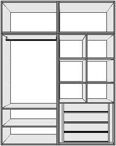 Bedroom Built In Wardrobe, Bedroom Closet Design, Bedroom Furniture Design, Bedroom Wardrobe, Home Room Design, Home Decor Bedroom, Wardrobe Door Designs, Closet Designs, Bedroom Cupboard Designs