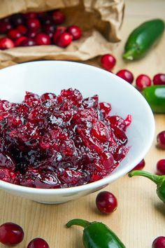 Tequila and Lime Jalapeno Cranberry Sauce  Ingredients 4 cups (1 12 ounce bag) cranberries 1 cup water or orange juice 1 cup sugar 1 jalapeno pepper, seeded and diced 1 tablespoon lime juice 2 tablespoons tequila