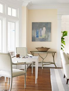 Is that a game table in the living room?!? - Mix and Chic: Home Tour- An elegant home on Long Island Sound!