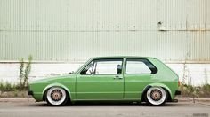 VW Mk1 Golf - Love the colour and stance. It's worth posting 100 times over. Lol