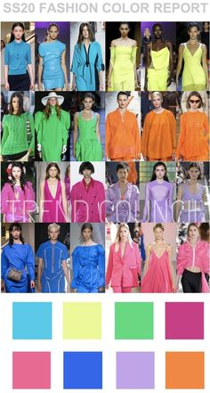 Colour Report - Trend Council - 2020 Fashions Woman's and Man's Trends 2020 Jewelry trends Trend Council, 2020 Fashion Trends, Spring Fashion Trends, Fashion 2020, Fast Fashion, Spring Summer Trends, Spring Summer Fashion, Spring Outfits, Style Summer