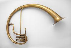 Bass saxtuba in E-flat  Maker: Adolphe (Antoine Joseph) Sax (Belgian, Dinant, Belgium 1814–1894 Paris)  Date: 1855  Geography: Paris, France  Culture: Paris, France  Medium: brass