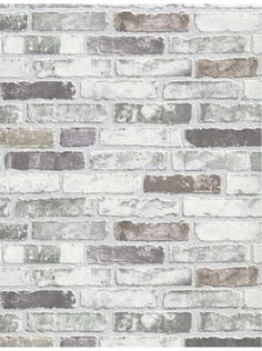 White Grey Brick Wallpaper White Grey Brick Wallpaper is unpasted and has 12.59 inches pattern repeat. Collection name: BRIX Size of each double roll is 21 inches x 33 feet. Each double roll covers about 57.75 square feet / 5.36 square meters. Made in Europe. ...