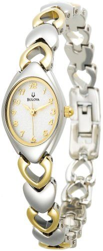 Bulova Women's 98V02 White Patterned Bracelet Watch