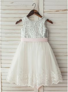 Girls Fancy Dresses, Cheap Flower Girl Dresses, Tulle Lace, Wedding Party Dresses, Special Occasion Dresses, Scoop Neck, Fashion Dresses, Sequins, Bow
