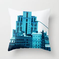 Montreal 8299 altered Throw Pillow by Korok Studios - $20.00