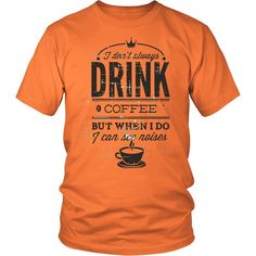 District Unisex Shirt - Drink Coffee