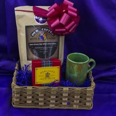 For the dad who loves coffee....featuring Our Coffee with a Cause Colombian Coffee, Berry Towne Spice Coffee Bar Soap, PEP Hand Painted Coffee Mug, Heritage Shortbread Cookies