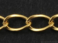 14k Gold Filled Drawn Cable Chain Medium Weight Flat by Beadspoint, $10.99
