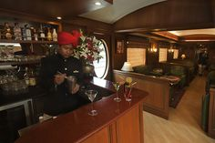 Safari Bar, Maharajas' Express.  The Indian Splendor itinerary on board Maharajas' Express which starts from Delhi concludes 168 later in Mumbai where guests are bid farewell after a weeklong ride in one of the world's most luxurious train. Maharajas' Express is an award winning luxury train in India which has been acclaimed by who's who of luxury travel as one of the most sophisticated, elegant and opulent trains of the world.