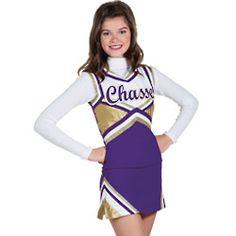 Double-Knit Metallic Uniform for Cheerleaders