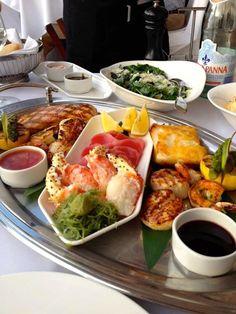 Scallops Tuna Crab Salmon Chilean Seabass Platter