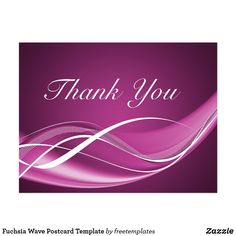 Shop Fuchsia Wave Postcard Template created by freetemplates. Thank You Qoutes, Thank You Quotes Gratitude, Thank You Gifs, Thank You Pictures, Cute Thank You Cards, Thank You Images, Love You Images, Thank You Postcards, Appreciation Quotes Relationship