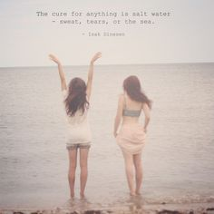 .@Penny Douglas People | The cure for anything...  #freepeople #inspiration #quote #saltwater #beach