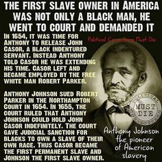 Anthony Johnson, first American slave owner