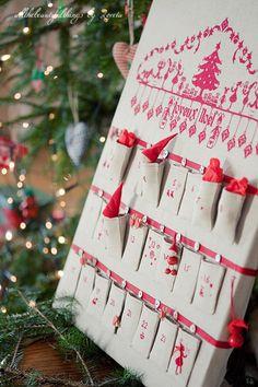 embroidered advent calendar