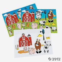 Make-A-Farm Stickers.....Oriental Trading