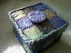 Polymer Clay Mosaic Tiled Trinket Box by trinasclaycreations, $28.00