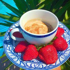 Strawberries and Coconut Vanilla Fondue wwww.victoriamahdion.com