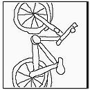 Summer - bike Coloring Page