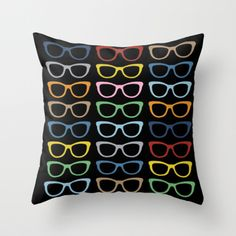 Sunglasses at Night Throw Pillow by Project M