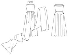 Convertible Dress Pattern Misses'/women's dress: