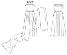 Convertible Dress Pattern Misses'/women's dress: