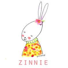 Zinnie the Rabbit   Linzer Lane Blog