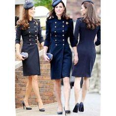 *NEW* Classic Princess Kate Middleton Dress Coat — Kate Middleton Outfits, Kate Middleton Coat, Vestidos Kate Middleton, Princess Kate Middleton, Princesa Kate, Royal Fashion, Look Fashion, Coat Dress, Dress Up