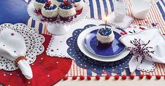 Celebrate the lives of those who fought for us this weekend by making memories with those you love with the perfect red white and blue table setting!🇺🇸❤️ Click the link in our bio to shop our Memorial Day sale and use REDWHITEBLUE to receive 2 Home Decor Accessories, Decorative Accessories, Blue Table Settings, Modern Flatware, Modern Tabletop, July Wedding, Red Interiors, Making Memories, Luxury Home Decor