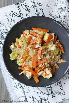 Experimente aus meiner Küche: Spitzkohl-Gemüse-Pfanne mit Hähnchen