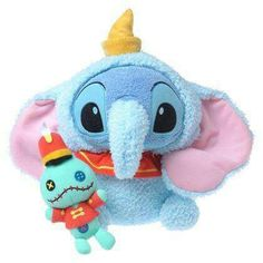 Stitch and Scrubs dressed as Dumbo characters