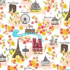 Michael Miller House Designer - Day in Paris - Day in Paris in Coral #fabric